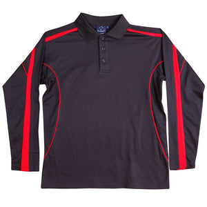 The Legend Polo | Mens | Long Sleeve | Navy/Red