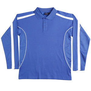 The Legend Polo | Mens | Long Sleeve | Royal/White