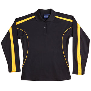 The Legend Polo | Ladies | Long Sleeve | Black/Gold