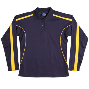 The Legend Polo | Ladies | Long Sleeve | Navy/Gold