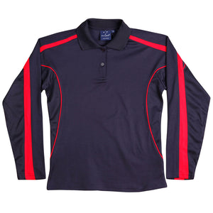The Legend Polo | Ladies | Long Sleeve | Navy/Red