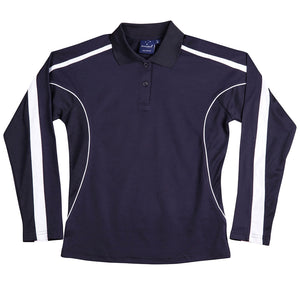 The Legend Polo | Ladies | Long Sleeve | Navy/White