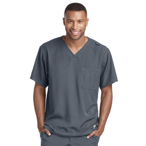 Structure Scrub Top | Pewter