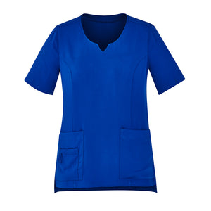 The Round Neck Scrub Top | Ladies | Electric Blue