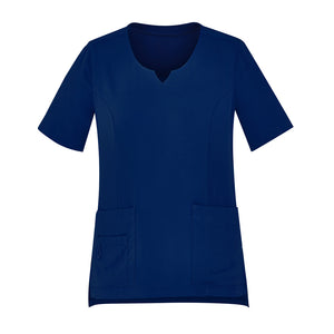 The Round Neck Scrub Top | Ladies | Navy