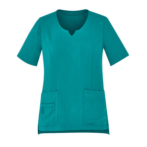 The Round Neck Scrub Top | Ladies | Teal