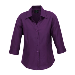 The Oasis Shirt | Ladies | 3/4 Sleeve | Grape