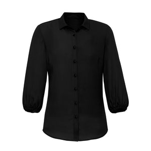 The Lucy Blouse | Ladies | 3/4 Sleeve | Black