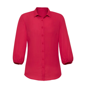 The Lucy Blouse | Ladies | 3/4 Sleeve | Raspberry