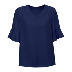 The Aria Blouse | Ladies | Navy