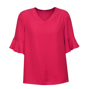 The Aria Blouse | Ladies | Raspberry