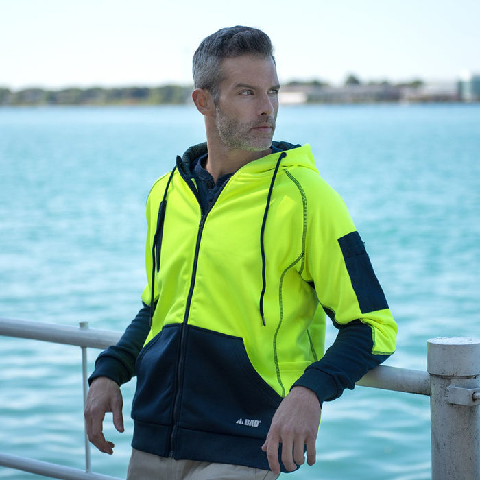 The Bad Waterproof Hi Vis Fleece Hoodie | Full Zip