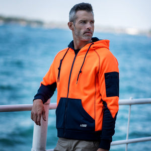 Waterproof Hi Vis Hoodie | Orange