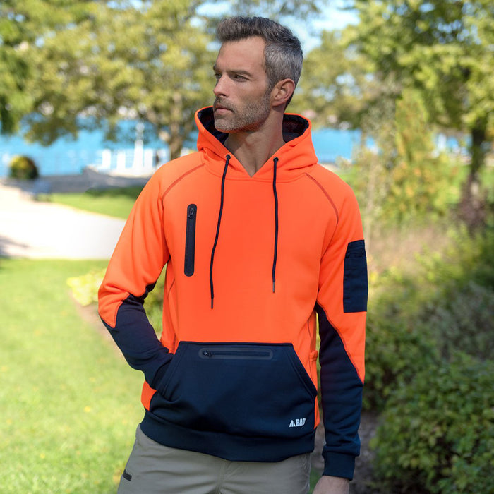 The Bad Waterproof Hi Vis Fleece Hoodie | Pullover
