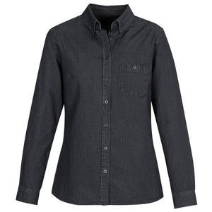 Ladies Long Sleeve Indie Shirt | Black