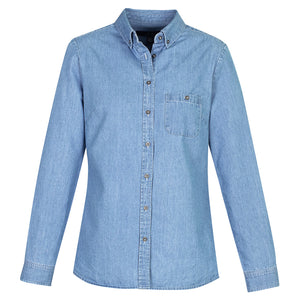 Ladies Long Sleeve Indie Shirt | Blue