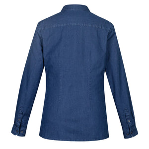 Ladies Long Sleeve Indie Shirt | Dark Blue