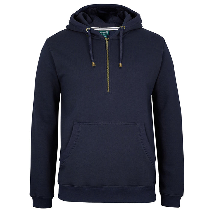 The Half Zip Brass Hoodie | Adults