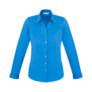 The Monaco Shirt | Ladies | Long Sleeve | Cyan