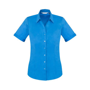 The Monaco Shirt | Ladies | Short Sleeve | Cyan