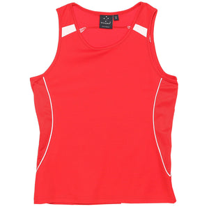The Legend Singlet | Ladies | Red/White