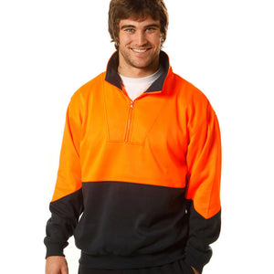 Hi Vis Collared Sweat | Mens
