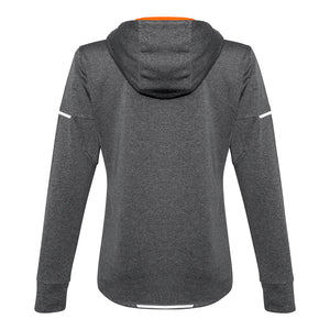The Pace Hoodie | Ladies | Grey/Fluoro Orange