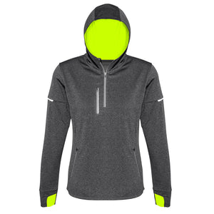 The Pace Hoodie | Ladies | Grey/Fluoro Yellow