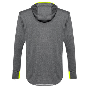 The Pace Hoodie | Mens | Grey/Fluoro Yellow