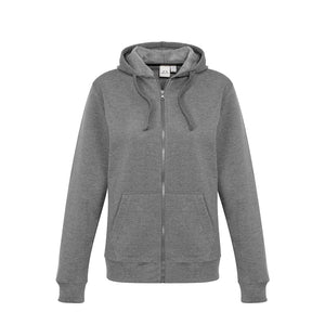The Crew Zip Hoodie | Ladies | Grey Marle