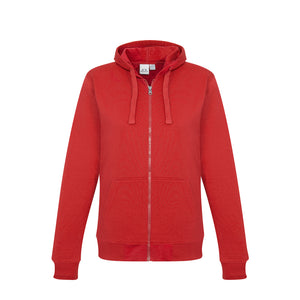 The Crew Zip Hoodie | Ladies | Red