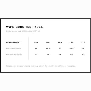Cube Tee | Sizing Guide