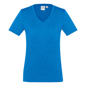 The Aero Tee | Ladies | Cyan Marle