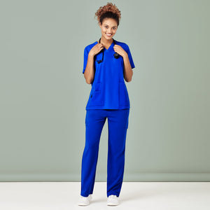 The Straight Leg Scrub Pant | Ladies | Electric Blue