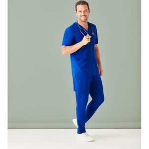 The Multi Pocket Scrub Pant | Mens | Electric Blue