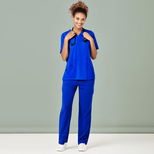 The V Neck Scrub Top | Ladies | Electric Blue
