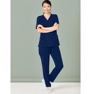 The V Neck Scrub Top | Ladies | Navy