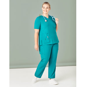 The V Neck Scrub Top | Ladies | Teal