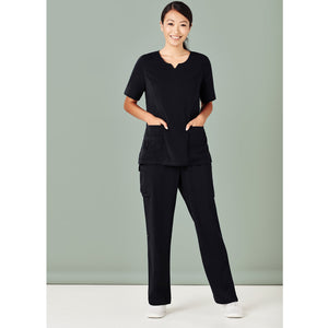 The Round Neck Scrub Top | Ladies | Black