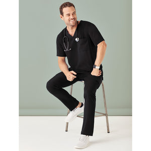 The V Neck Scrub Top | Mens | Black