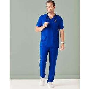 The V Neck Scrub Top | Mens | Electric Blue