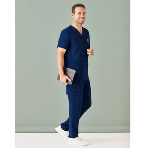 The V Neck Scrub Top | Mens | Navy