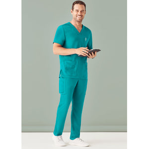 The V Neck Scrub Top | Mens | Teal