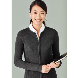 The 2 Way Zip Knit | Ladies | Cardigan | Charcoal