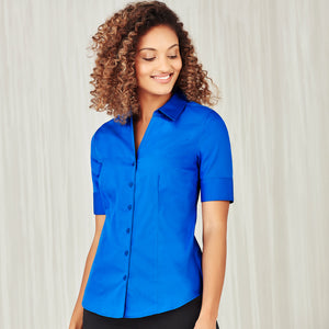 The Monaco Shirt | Ladies | Short Sleeve | Electric Blue