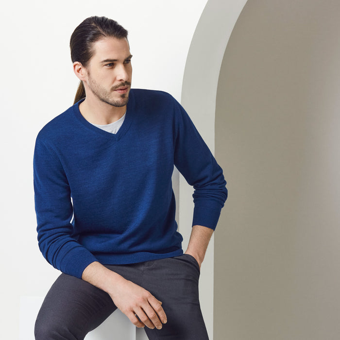 The Roma Knit | Mens  | V Neck Jumper