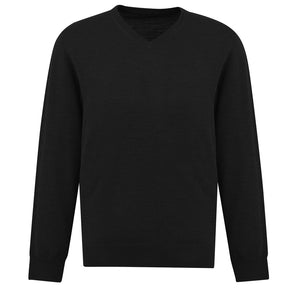 The Roma Knit | Mens  | V Neck Jumper | Black