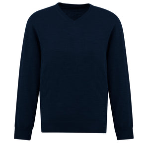 The Roma Knit | Mens  | V Neck Jumper | Navy