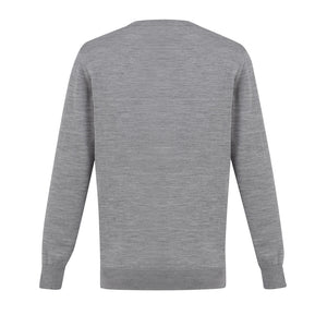 The Roma Knit | Mens  | V Neck Jumper | Silver