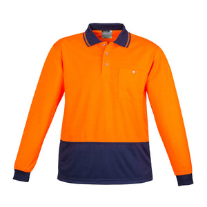 The Alan Polo | Mens | Long Sleeve | Orange/Navy
